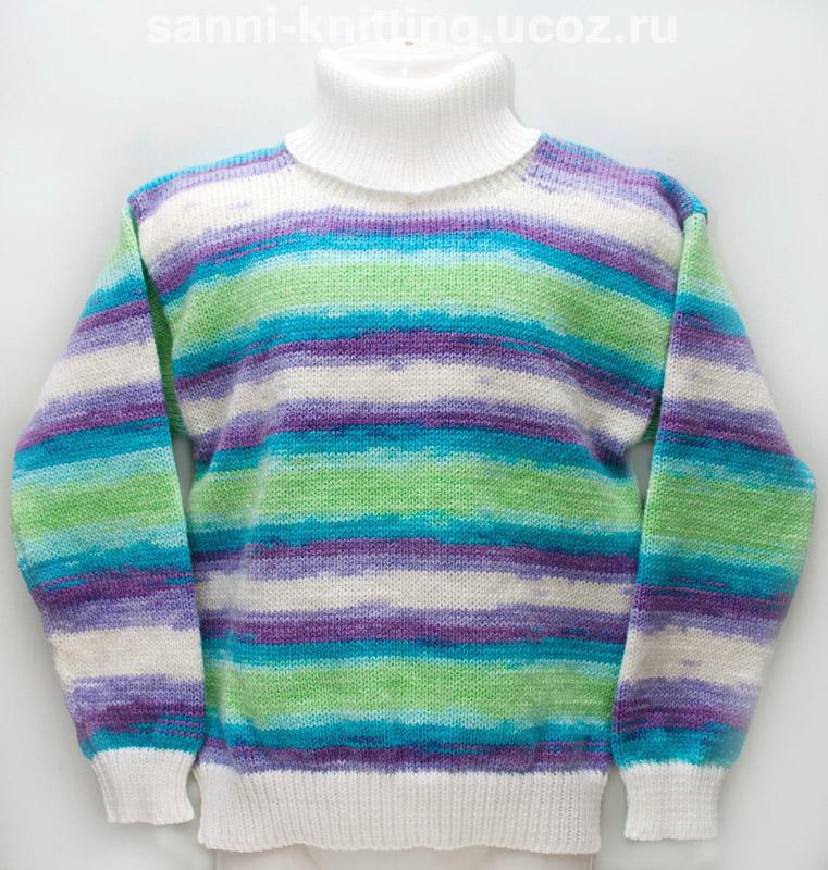 детский вязаный свитер