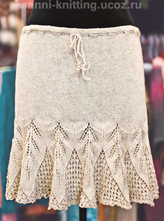 вязание крючком юбки зимние: